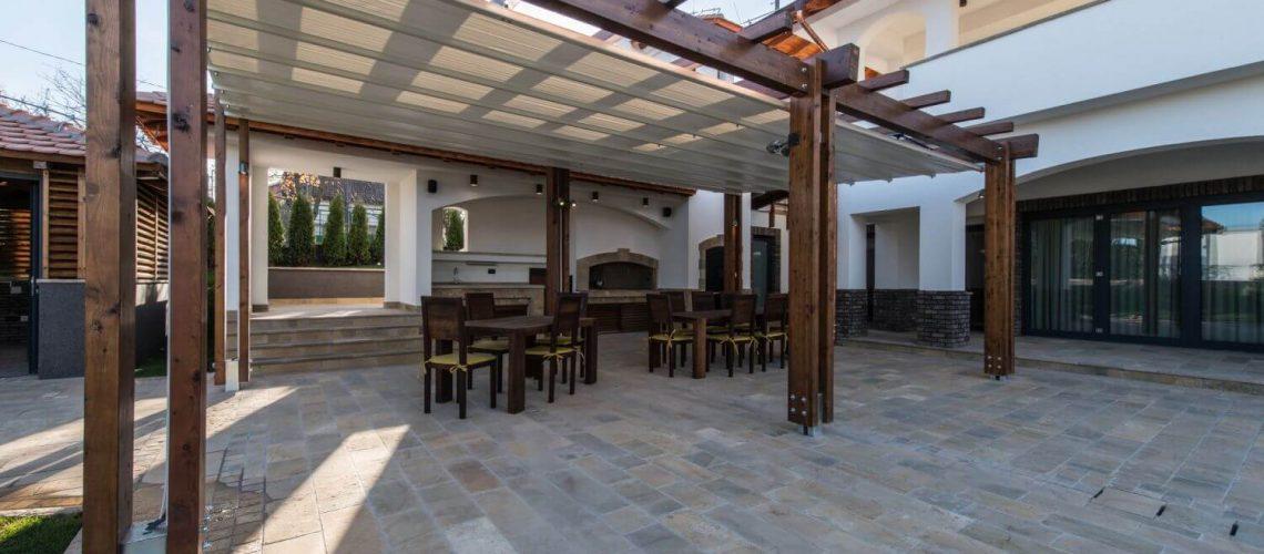 install a pergola on a paver patio