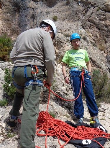 comenzar escalada SERAC COMPAÑÍA DE GUÍAS
