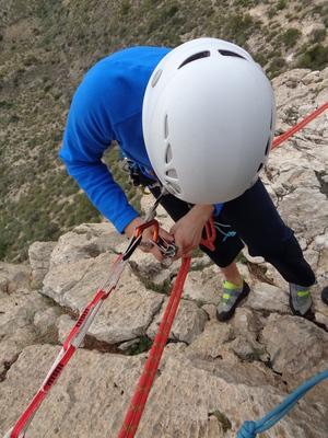 rapel autoseguro autoasegurado escalada alpinismo multi chain SERAC COMPAÑÍA DE GUÍAS