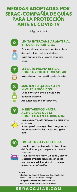 2 Medidas montaña protección COVID 19 SERAC COMPAÑÍA DE GUÍAS