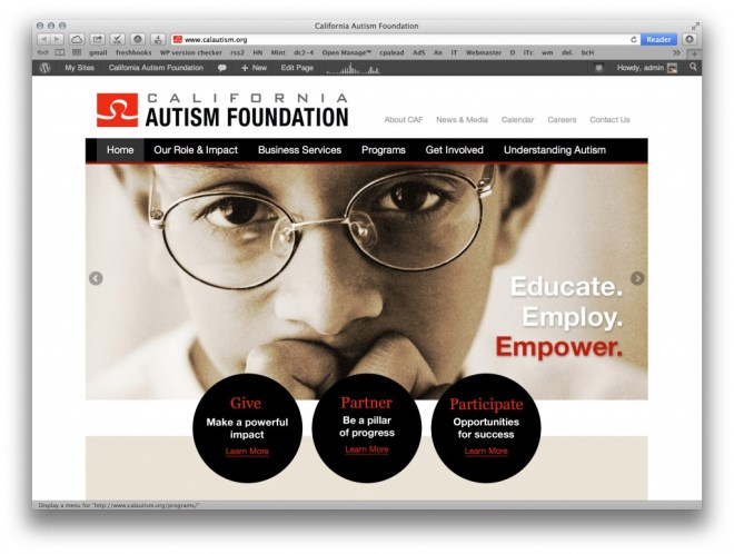 New California Autism Foundation site