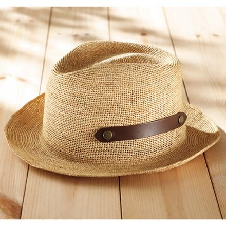 細編みラフィアの中折れ帽子
