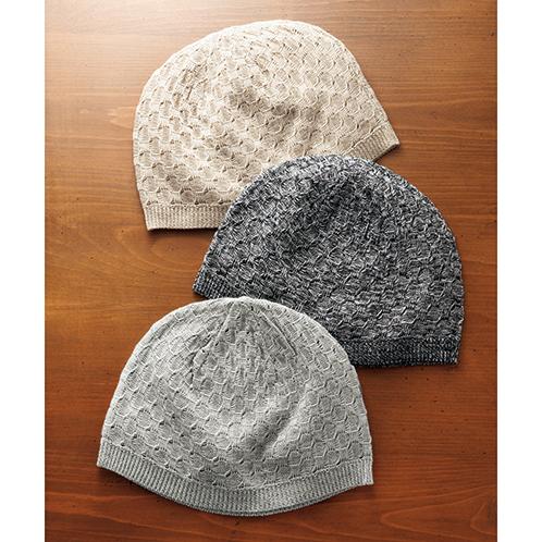 美濃和紙のニット帽子 三色組
