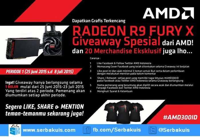 Giveaway AMD Berhadiah Radeon R9 FURY X Senilai 7 Jutaan