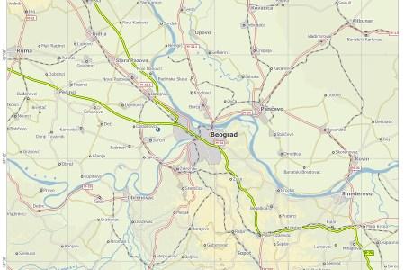 karta beograda sa okolinom map novog karta beograda sa okolinom
