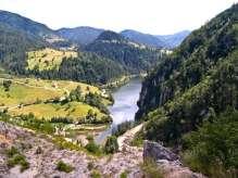 Поглед на Спајића језеро са велике бране