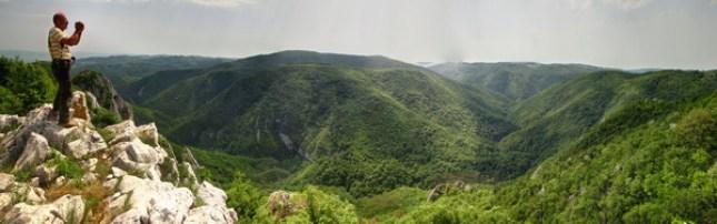 Поглед са Соколовице на кањон Брњице