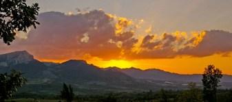 залазак Сунца, гледан са Дели Јована