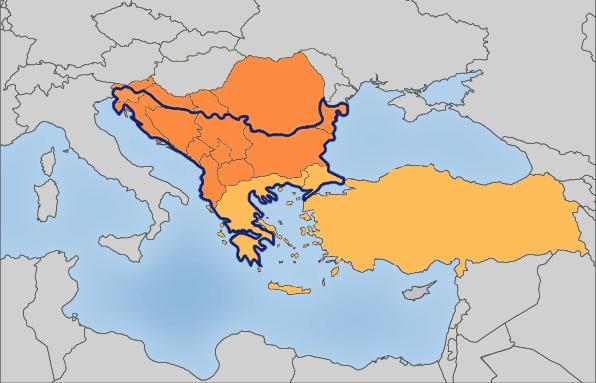 Mapa Balkana