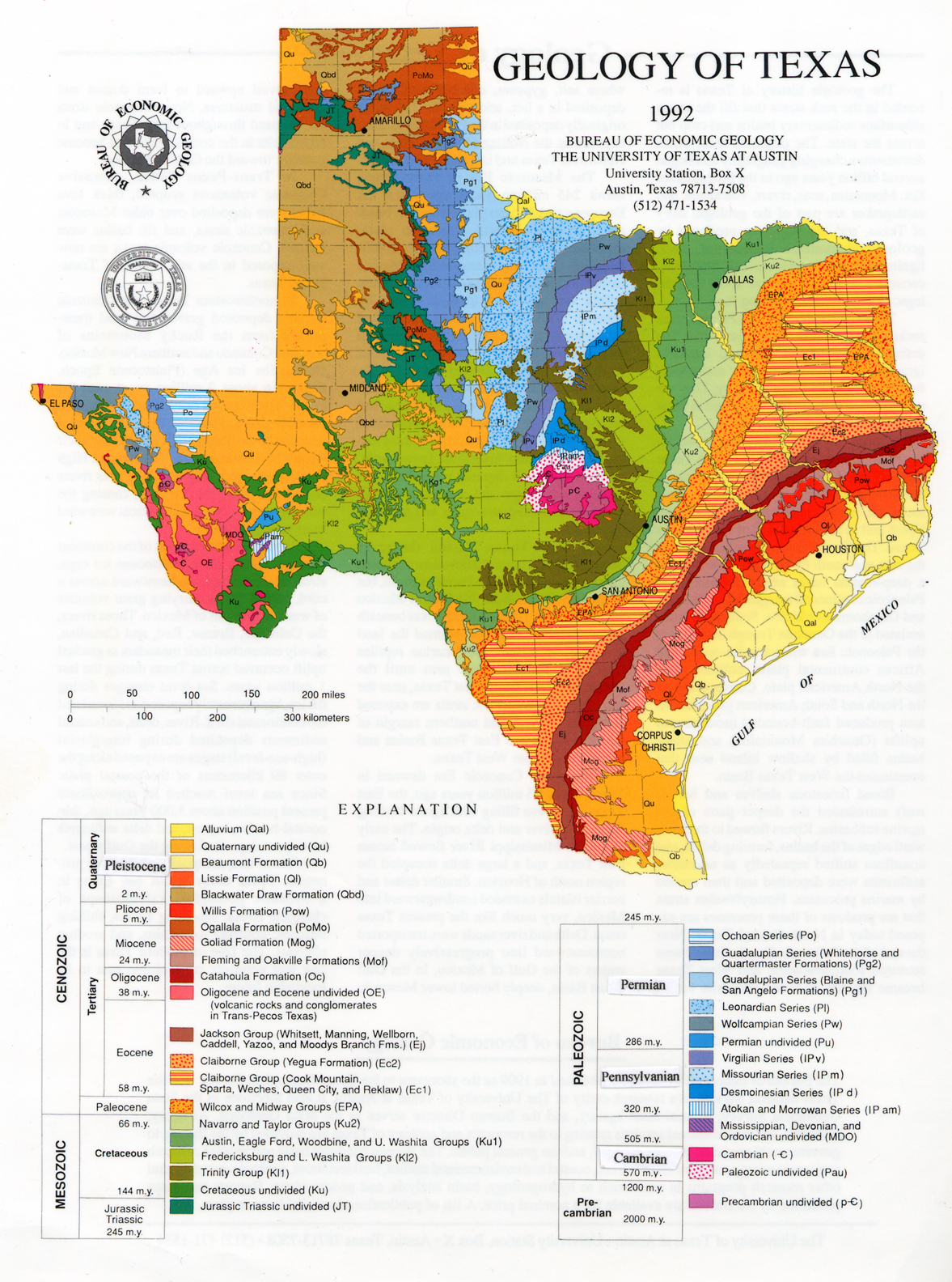Geologic Maps And Geologic Structures A Texas Example