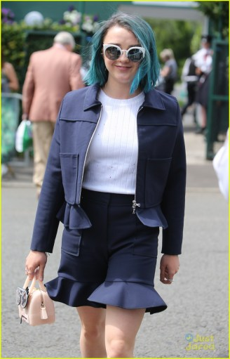 Wimbledon 2016 - Day 13 - Celebrity Sightings Featuring: Maisie Williams Where: London, United Kingdom When: 09 Jul 2016 Credit: Rocky/WENN.com