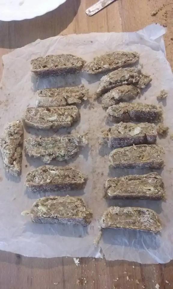 Biscotti con fibre vegetali da estrattore