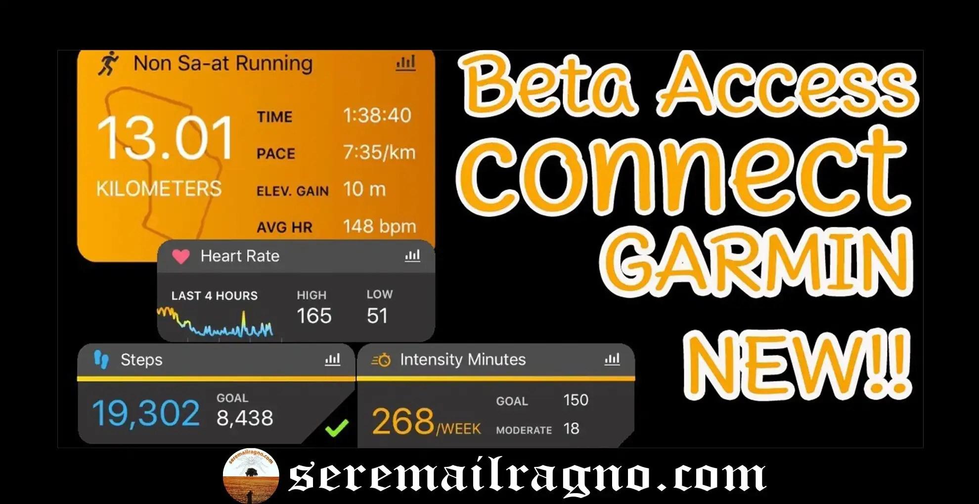 Garmin Connect: rinnovo dell'interfaccia con la versione beta