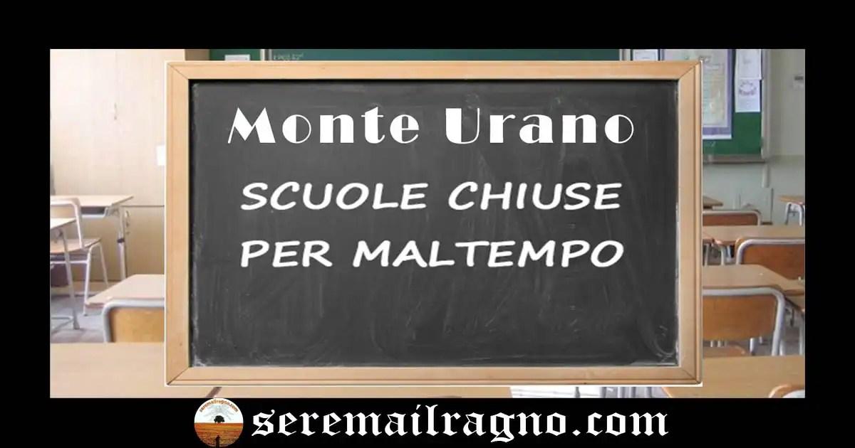 Monte Urano- Chiusura delle scuole anche domani 27 Febbraio