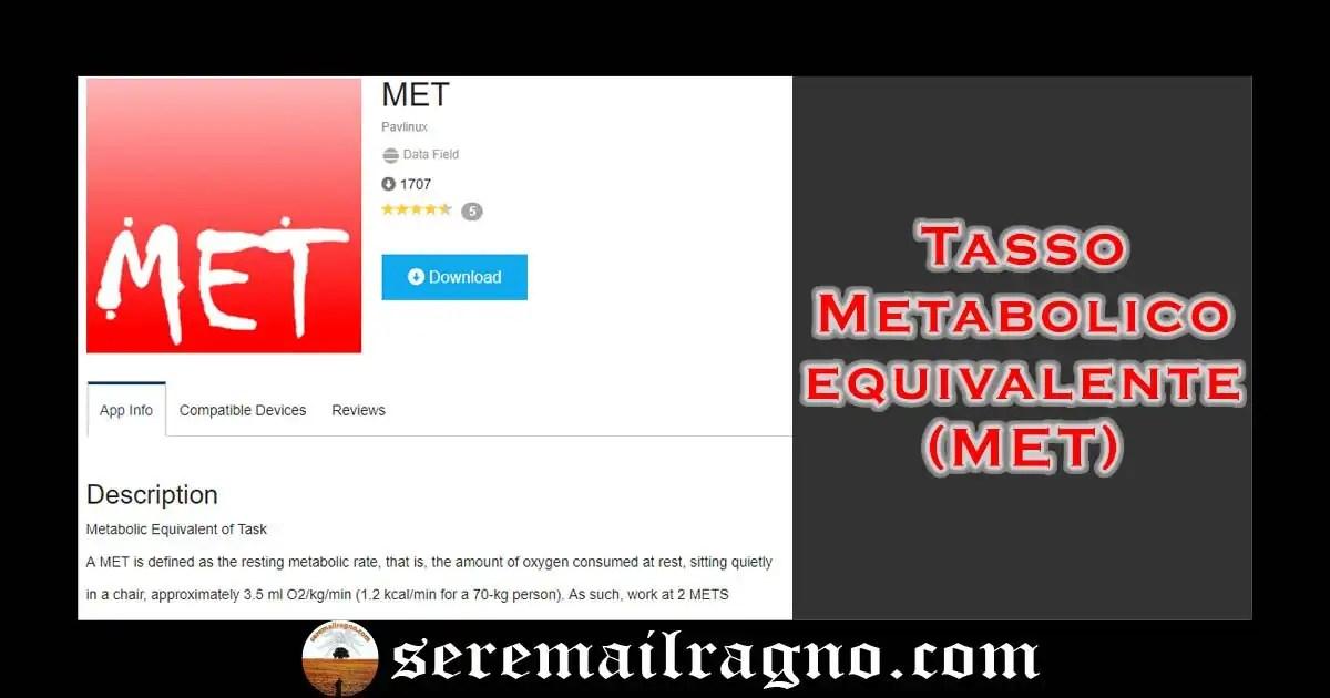 Valutare il MET (Metabolic Equivalent of Task) nel proprio dispositivo Garmin