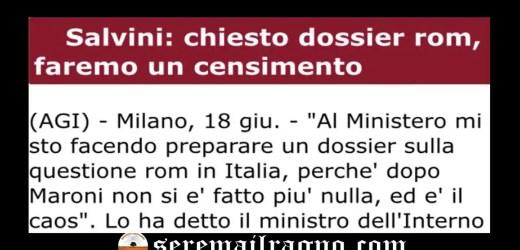 """Il """"censimento"""" per i Rom e la """"schedatura"""" per gli italiani"""
