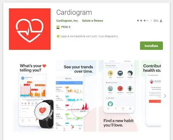 Cardiogram e Garmin
