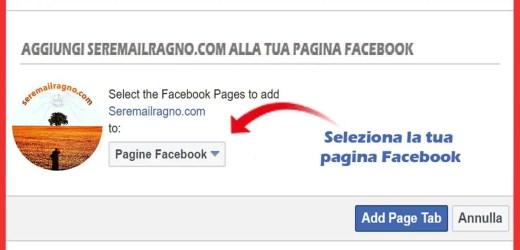 Seremailragno.com sbarca ufficialmente nelle Pagine Facebook