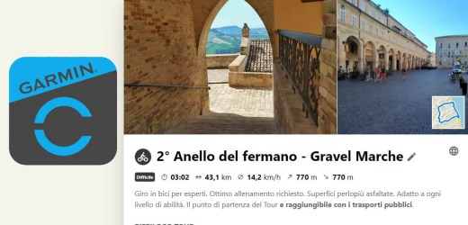 Come importare percorsi salvati da Komoot sull'app Garmin Connect e viceversa