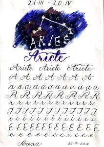 Creatività - copperplate e segni zodiacali