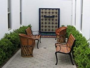 área de jardín en Serena Care Rosarito