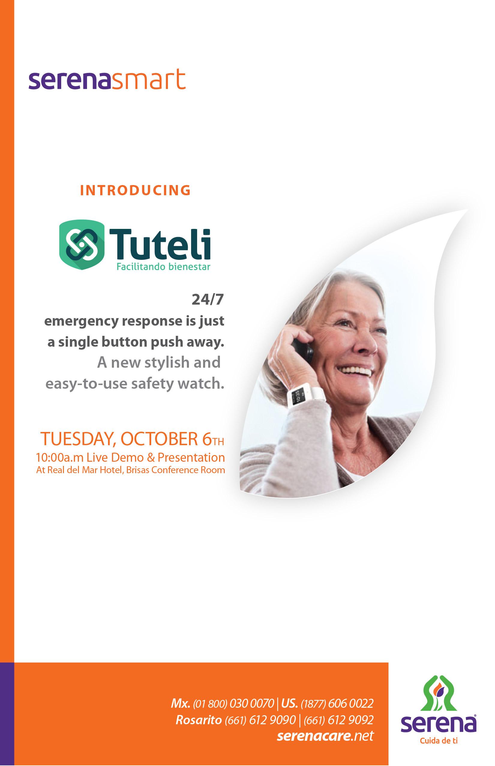 Flyer del evento de introducción de Tuteli