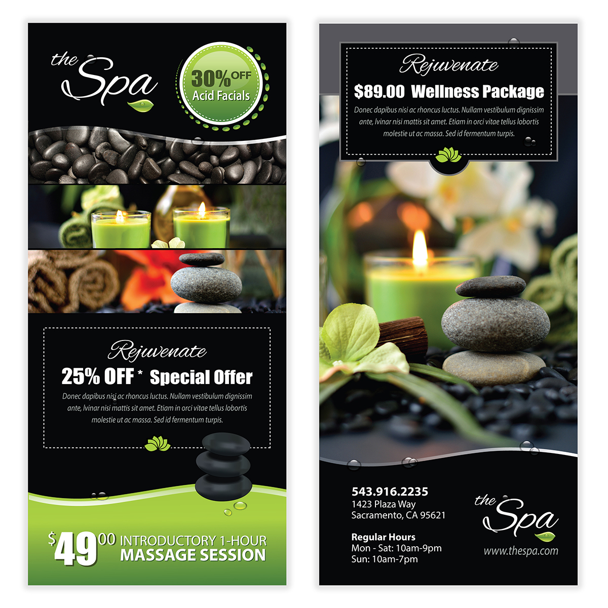Spa Flyer Template Ibovnathandedecker