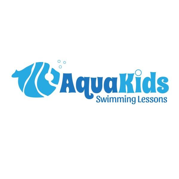 Kids Swimming Logo Template
