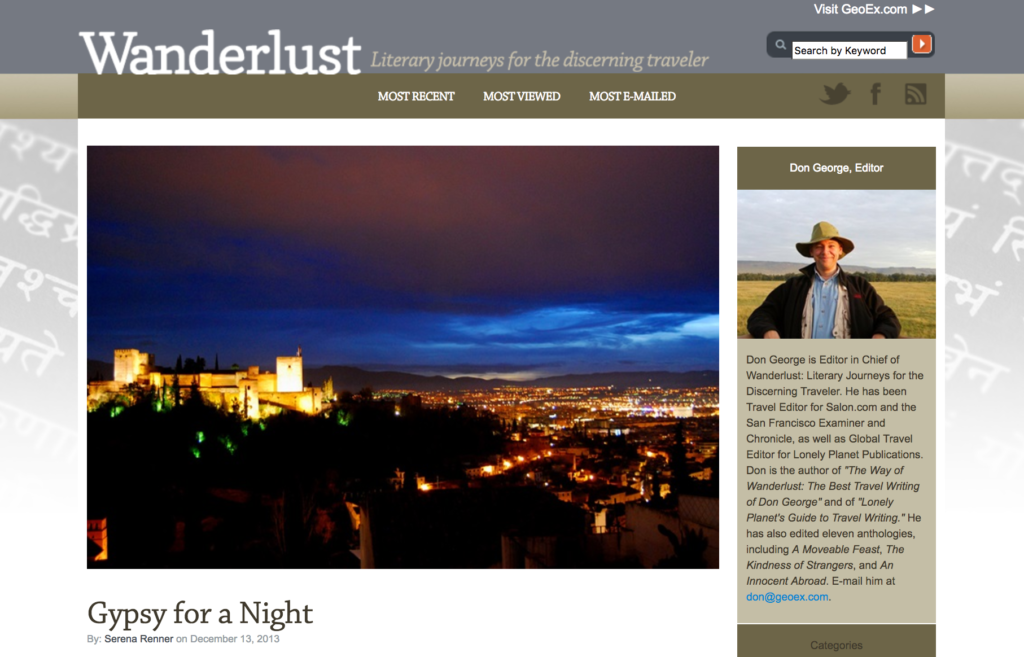 Gypsy for a Night, Wanderlust, Geographic Expeditions, Serena Renner, Granada, Spain