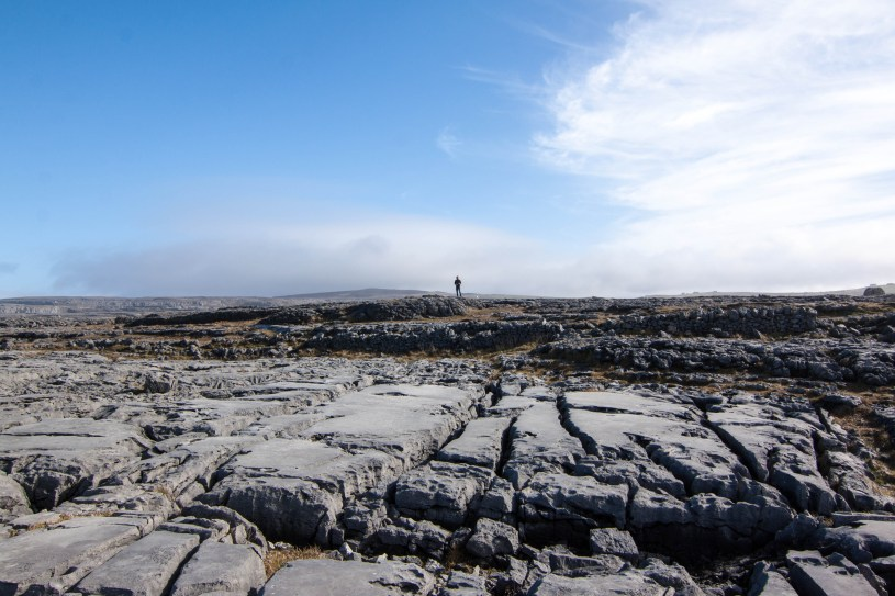 The barren limestone landscape of the Burren is the result of glaciation during the last Ice Age.