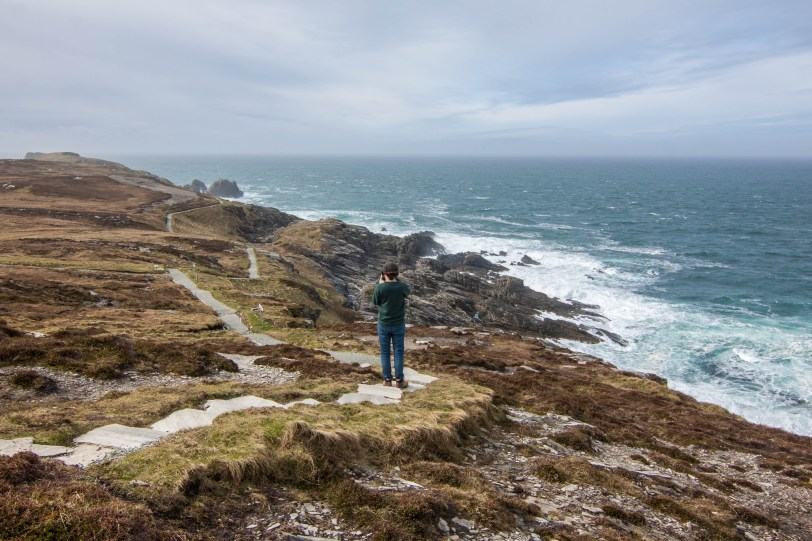 Kevin blends into the scenery of Malin Head, on the Inishowen Peninsula of County Donegal.
