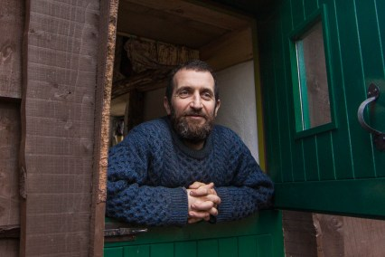 """Mark Boyle, the former """"Moneyless Man,"""" lives like a modern-day Thoreau in an off-grid cabin he built in County Galway."""