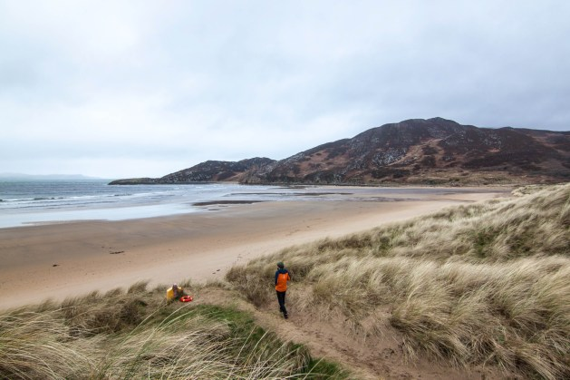 Windswept beaches stretch for miles on the Inishowen Peninsula of County Donegal.