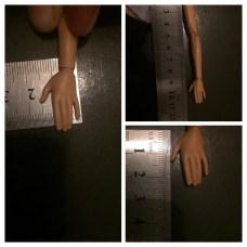 Esta es la mano de la muñeca que ella va a trabajar, con sus respectivas medidas reales.