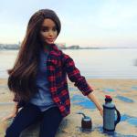 Termo y mate en miniatura con The barbie uy