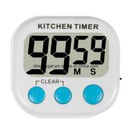 LCD Digital Kitchen Countdown Timer Alarm with Stand White Kitchen Timer Practical Cooking Timer Alarm Model XL-331L [1 x AAA]