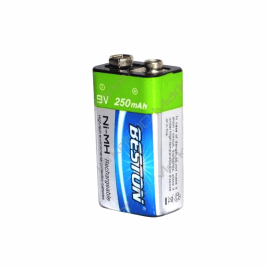 BESTON NI-MH RECHARGEABLE BATTERY 250MA '9V' EACH