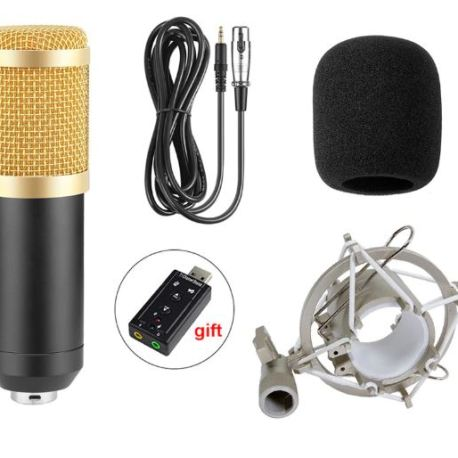 BM800 Professional Microphone Condenser Microphone Sri Lanka Serendib Store Gadget Store for Video Recording Radio Studio Microphone for Computer with Shock Mount 1