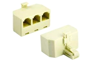 TELEPHONE CONNECTOR 3 WAY