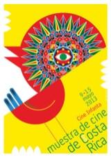 """Nelson Ponce, affiche de la Muestra de Ciné de Costa Rica , sérigraphie 19,5 X 27,5"""". 2013. Droits réservés"""