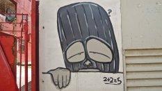 Graffiti de 2+2 = 5, Centro Habana, octobre 2016.