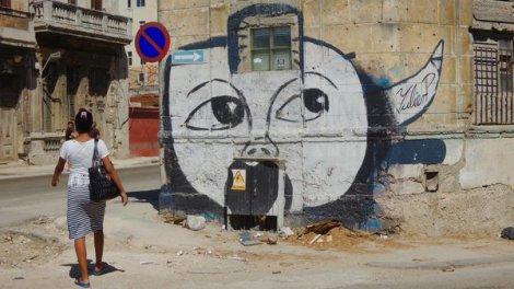 Graffiti de Yulier P. calle San Lazaro, Habana Centro, octobre 2016.