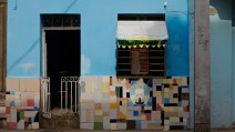 Centro Habana, façade signalant une entreprise cuentapropista, 2014