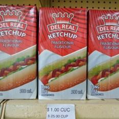 Apparition relativement récente de produits manufacturés dans les magasins cubains.