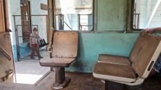 Des sièges qui rappellent ceux du Corail des années 70 dans le train pour Manzanillo.