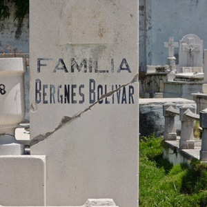 Familia Bergnes Bolivar, cementerio Santa Ifigenia de Santiago de Cuba.