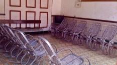 Trinidad 2010 : un bel ensemble de balances à la maternité. Moulage aluminium à partir d'un modèle classique en rotin.