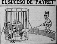 Dessin satirique représentant Santos y Artigas, paru dans La Politica Comica, 1918.