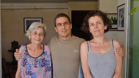 Avec Alicia et Roberto avant le départ pour l'aéroport.