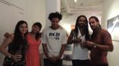 Portrait de groupe à la Fabrica de Arte Cubano.